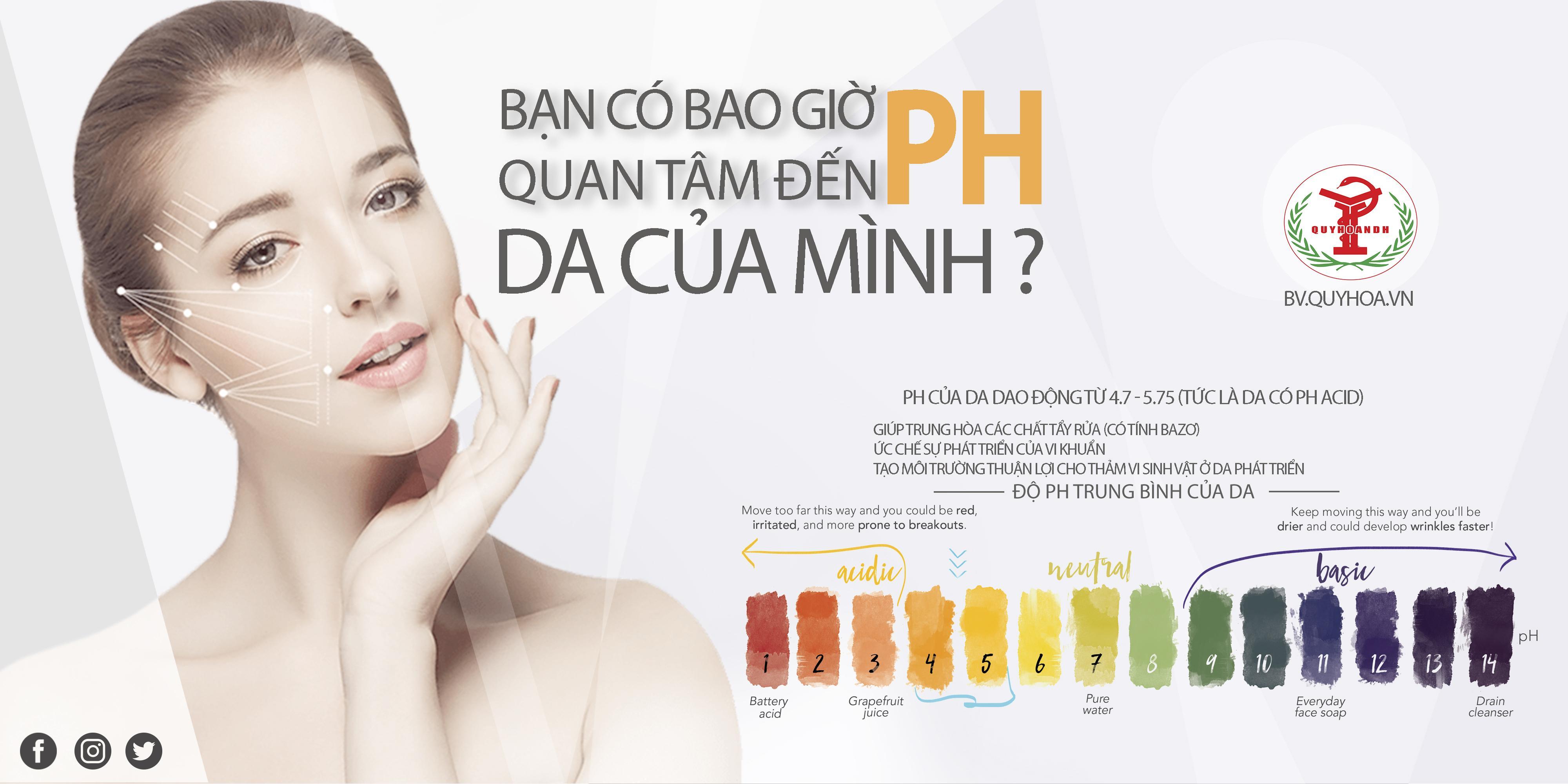 Bạn có bao giờ bạn tâm đến độ PH của da mình